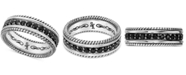Scott Kay Men's Black Sapphire Ring (1-3/4 ct. t.w.) in Sterling Silver