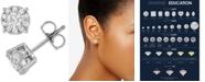 Macy's Diamond Halo Stud Earrings (1 ct. t.w.) in 14k White Gold