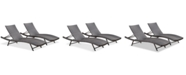 Noble House Veranda Outdoor Chaise Lounge (Set Of 2)