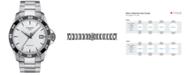 Tissot Men's Swiss Automatic T-Sport V8 Gray Stainless Steel Bracelet Watch 42.5mm