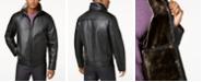 Calvin Klein Men's Faux Shearling Lined Leather Moto Jacket
