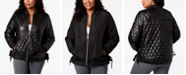 Calvin Klein Plus Size Water-Repellent Reversible Lace-Up Sides Bomber Jacket