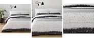 Marimekko Jurmo Dark Shadow Gray Cotton 2-Pc. Twin Duvet Cover Set