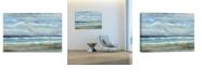 "Artissimo Designs Seashore I Hand Embellished Canvas Art - 36"" W x 24"" H x 1.25"" D"