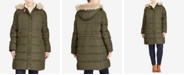 Lauren Ralph Lauren Plus Size Faux-Fur-Lined Hooded Down Coat, Created For Macy's