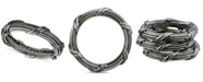 Peter Thomas Roth Overlap Band in Ruthenium over Sterling Silver
