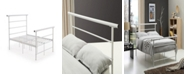 Hodedah Complete Metal Full-Size Bed with Headboard, Footboard, Slats and Rails in Bronze
