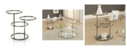 Furniture of America Loli Glass Top End Table