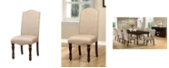 Furniture of America Naveah Dining Chair (Set Of 2), Quick Ship