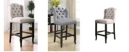 Furniture of America Langly Tufted Upholstered Bar Stool (Set of 2)