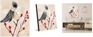 "Creative Gallery Tufted Titmouse Bird On Light Orange 24"" X 36"" Acrylic Wall Art Print"