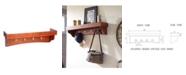 Alaterre Furniture Shaker Cottage Coat Hooks with Tray Shelf, Cherry