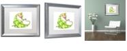 "Trademark Global Jennifer Nilsson A Gift for You - Dragon 3 Matted Framed Art - 16"" x 20"" x 0.5"""
