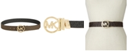 Michael Kors Reversible Signature with Logo Buckle Belt