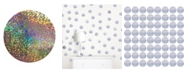 Brewster Home Fashions Holographic Confetti Dots Set Of 128