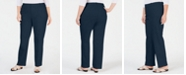 Charter Club Plus Size Newport Straight-Leg Pants, Created for Macy's