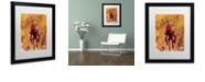 """Trademark Global Craig Snodgrass 'Disconnect Red' Matted Framed Art, 16"""" x 20"""""""
