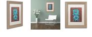 """Trademark Global Craig Snodgrass 'Wee-Bot-Blue' Matted Framed Art, 11"""" x 14"""""""