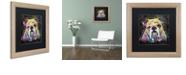 """Trademark Global Dean Russo 'Bulldog Heart' Matted Framed Art, 16"""" x 16"""""""