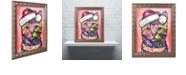 """Trademark Global Dean Russo 'Christmas Cat' Ornate Framed Art, 16"""" x 20"""""""