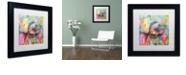 "Trademark Global Dean Russo 'Fishy Spray' Matted Framed Art, 11"" x 11"""