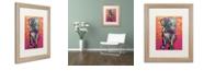 """Trademark Global Dean Russo 'Puppy Love' Matted Framed Art, 16"""" x 20"""""""