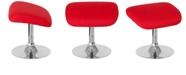 Flash Furniture Egg Series Red Fabric Ottoman
