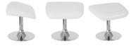 Flash Furniture Egg Series White Leather Ottoman