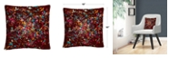 """Baldwin Speckled Colorful Splatter Abstract 3 16x16"""" Decorative Throw Pillow by ABC"""