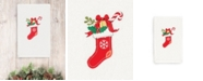 Linum Home CLOSEOUT!  Christmas Stocking 100% Turkish Cotton Hand Towel