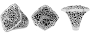 Lois Hill Scroll Work Statement Ring in Sterling Silver
