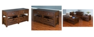 Sunny Designs Canyon Creek Kings Wood Sofa/Media Table