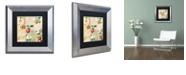 "Trademark Global Color Bakery 'Apple Blossoms Iv' Matted Framed Art, 11"" x 11"""