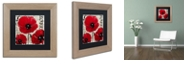 """Trademark Global Color Bakery 'Rouge Two' Matted Framed Art, 11"""" x 11"""""""