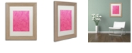 "Trademark Global Color Bakery 'Petals Of Paris Viii' Matted Framed Art, 11"" x 14"""