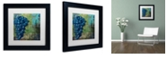 "Trademark Global Color Bakery 'Vino Blu Two' Matted Framed Art, 11"" x 11"""