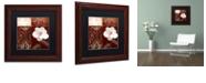 "Trademark Global Color Bakery 'Flores Blancas Iv' Matted Framed Art, 11"" x 11"""