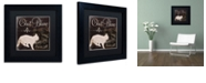"Trademark Global Color Bakery 'Les Chats I' Matted Framed Art, 11"" x 11"""