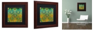 "Trademark Global Color Bakery 'Koolkat One' Matted Framed Art, 11"" x 11"""