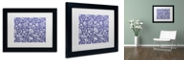 """Trademark Global Color Bakery 'Toile Fabrics X' Matted Framed Art, 11"""" x 14"""""""