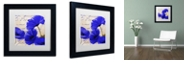 "Trademark Global Color Bakery 'Coquelicots Bleues I' Matted Framed Art, 11"" x 11"""