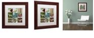 "Trademark Global Color Bakery 'Country Christmas Nine' Matted Framed Art, 11"" x 11"""