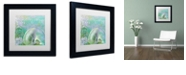 """Trademark Global Color Bakery 'Painted Sea Ii' Matted Framed Art, 11"""" x 11"""""""