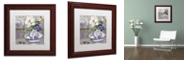 "Trademark Global Color Bakery 'Tableaux I' Matted Framed Art, 11"" x 11"""