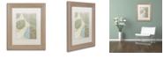 """Trademark Global Color Bakery 'Leaf Story Vi' Matted Framed Art, 11"""" x 14"""""""
