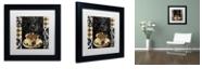 """Trademark Global Color Bakery 'Cafe Noir Vi' Matted Framed Art, 11"""" x 11"""""""