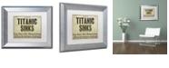 "Trademark Global Color Bakery 'Titanic' Matted Framed Art, 11"" x 14"""