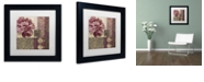 "Trademark Global Color Bakery 'Patch Work Brocade I' Matted Framed Art, 11"" x 11"""