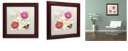 "Trademark Global Color Bakery 'Petals Of Paris I' Matted Framed Art, 11"" x 11"""