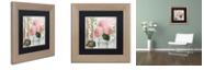 "Trademark Global Color Bakery 'Chalet D'Ete Hydrangea' Matted Framed Art, 11"" x 11"""